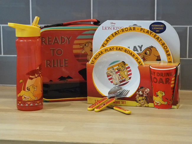New Lion King lunch sets